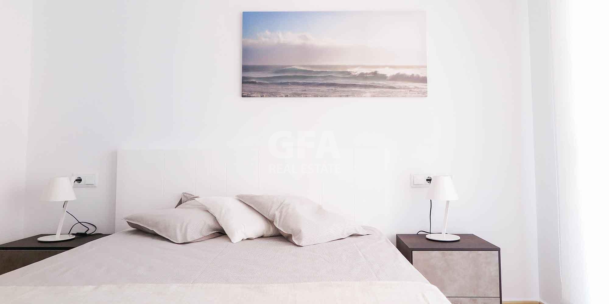 Residencial obra nueva Mar Menor Golf Resort cama habitación