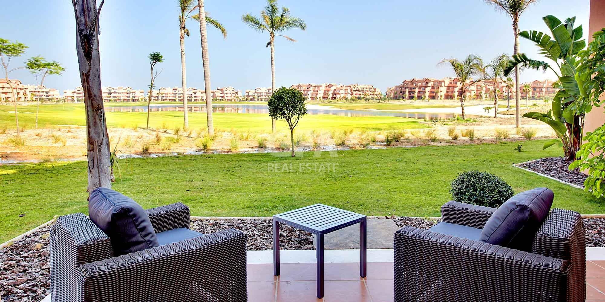 Residencial obra nueva Mar Menor Golf Resort terraza
