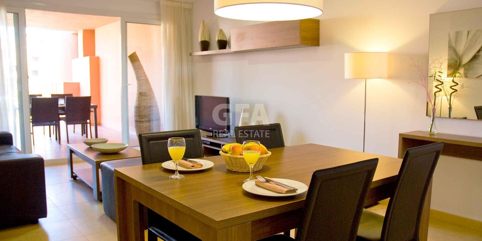 Residencial obra nueva Mar Menor Golf Resort salón comedor