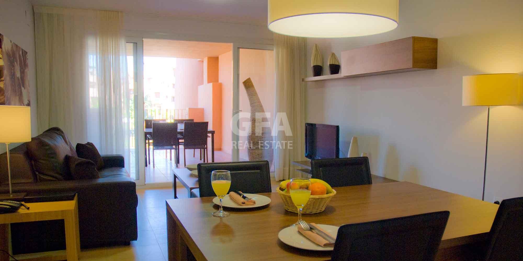 Residencial obra nueva Mar Menor Golf Resort comedor