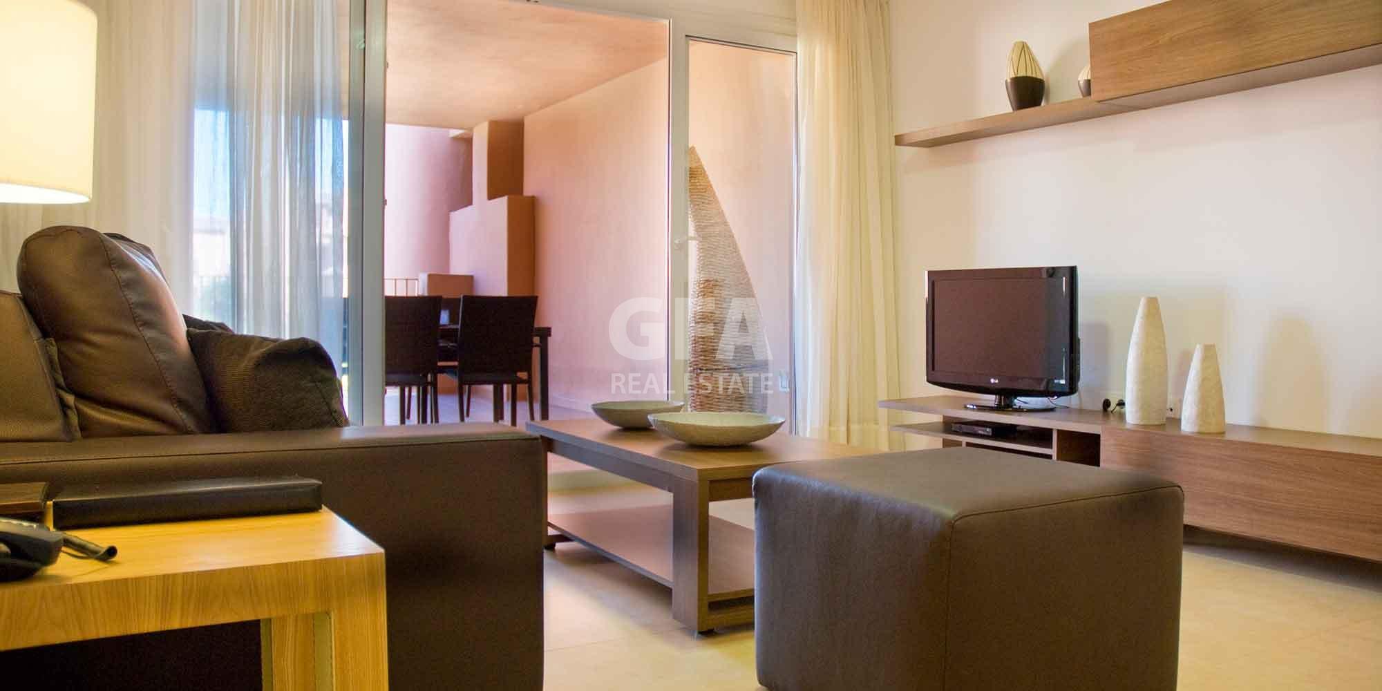 Residencial obra nueva Mar Menor Golf Resort comedor salón