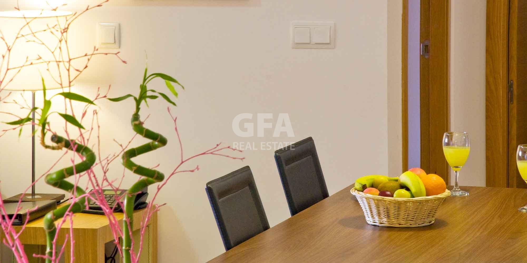 Residencial obra nueva Mar Menor Golf Resort mesa comedor apartamento