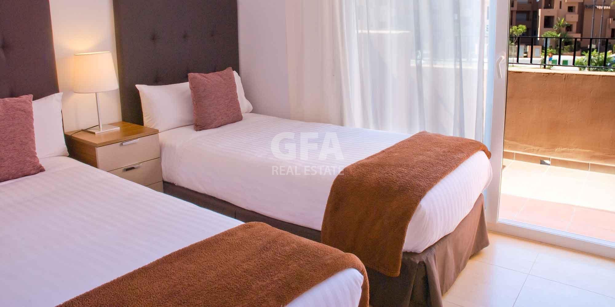 Residencial obra nueva Mar Menor Golf Resort habitación
