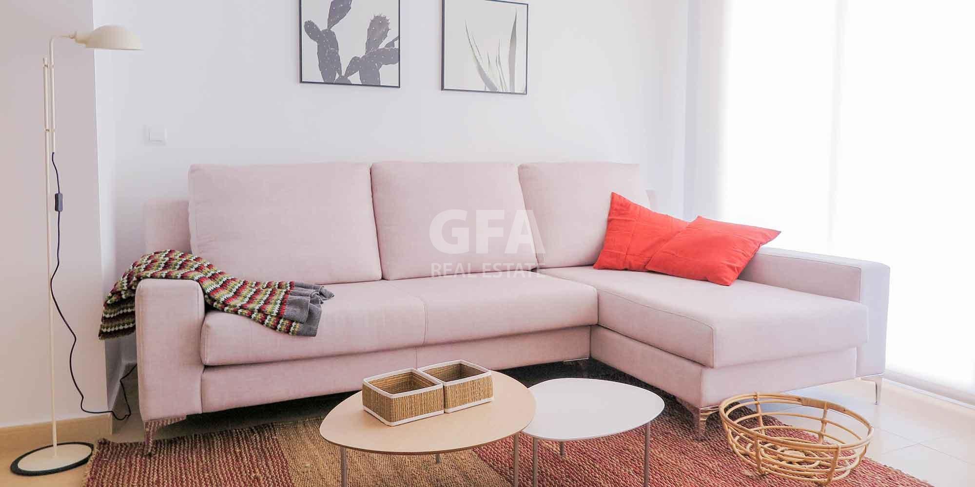 Residencial obra nueva Mar Menor Golf Resort  sofa comedor