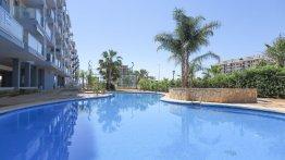 Residencial Veles Blanques de obra nueva en Moncófar piscina comunitaria
